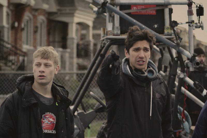 1:54 était le premier long métrage à titre de réalisateur de Yan England. Il est accompagné d'Antoine-Olivier Pilon sur la photo.