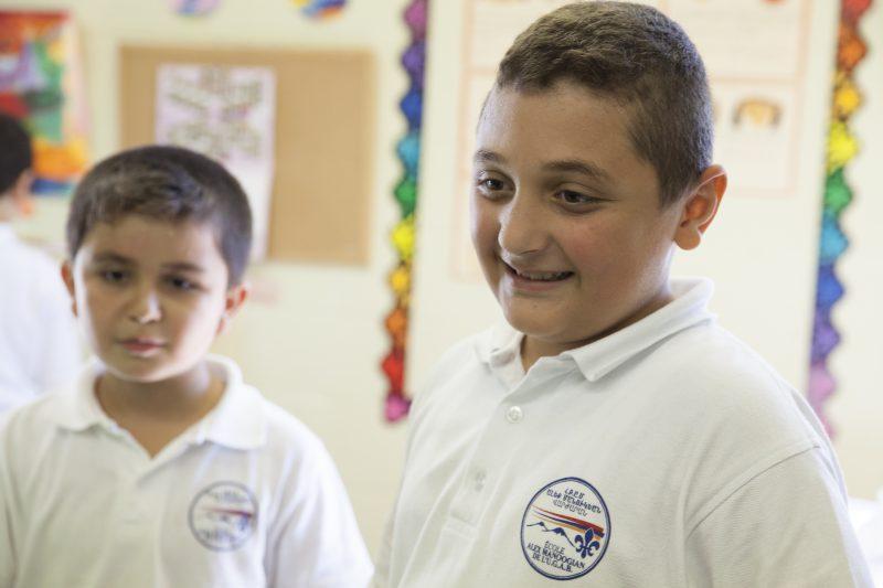 L''école Manoogian accueil les enfants de réfugiés.