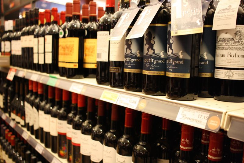 SAQ bouteilles vin