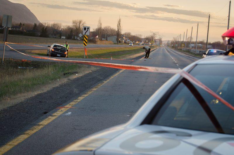 Une cycliste a été gravement blessée samedi après-midi, le 2 mai, après avoir été happée par un véhicule, sur la route 116, près du chemin Grand-Rang, à Sainte-Marie-Madeleine.