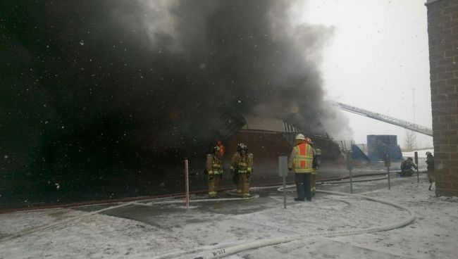 Un incendie s'est déclaré chez Mulligan International, à Beloeil.