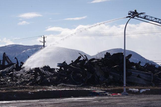 Le bâtiment de l'entreprise Mulligan International, à Beloeil, a été détruit par un incendie samedi.