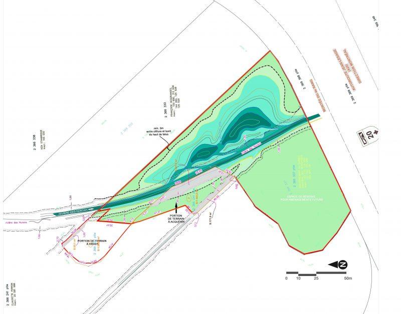 Plan préliminaire de la conception du bassin pour poissons.