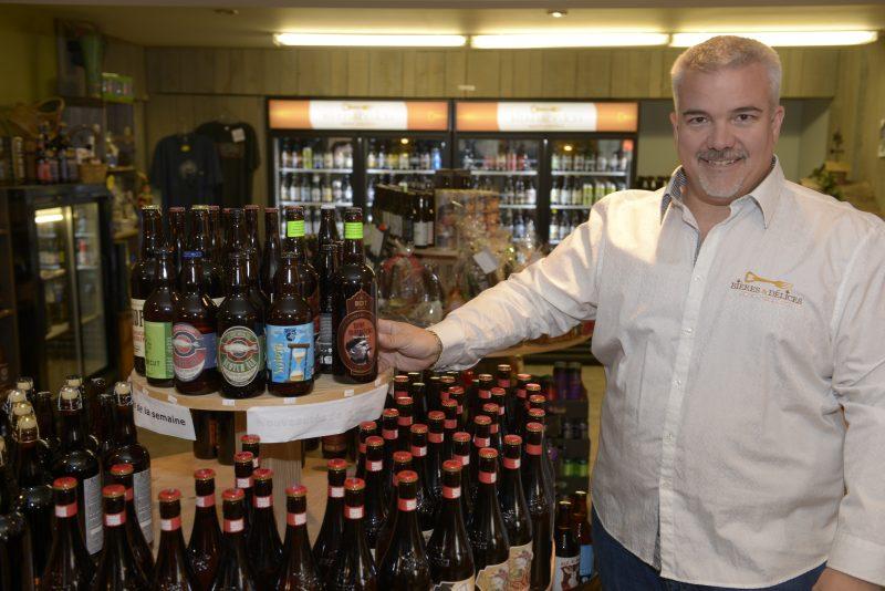 Le propriétaire de Bière et Délices, Patrick Bourguignon.
