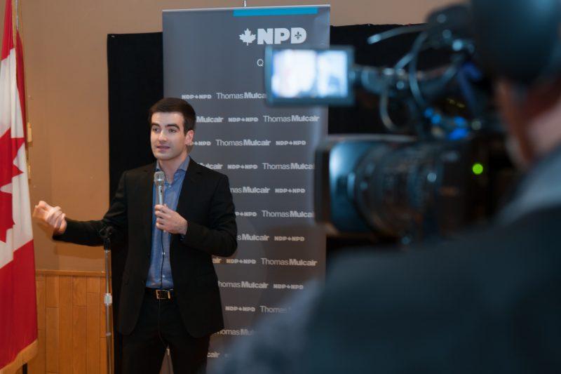 Le député du NPD de Belooeil-Chambly, Matthew Dubé.