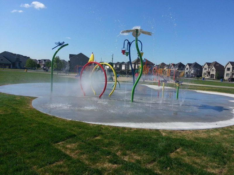Des jeux d'eau à la ville de Belœil.