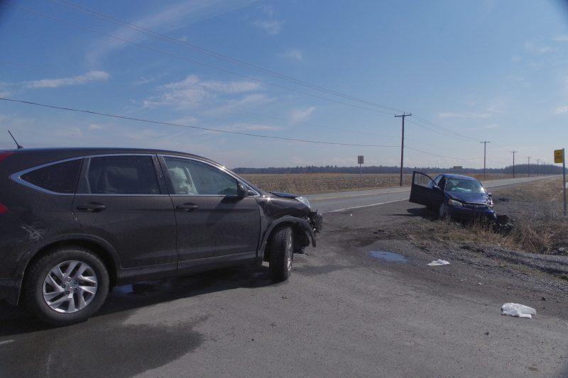 L'accident a impliqué un véhicule de marque Honda  Civic et un Honda CRV.