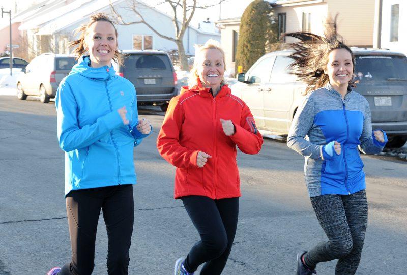 Annie Berlinguette courra le 5 km le 22 avril en compagnie de sa mère et de sa sœur, qui sont aussi très proches du petit Thomas Rivest.