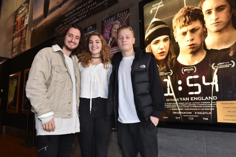 Lou-Pascal Tremblay, Sophie Nélisse et Antoine Olivier Pilon.