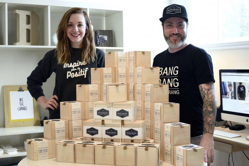 Marie-Eve D'Amico et Martin Brouillard  présentent leur création, Le Cube Positif.