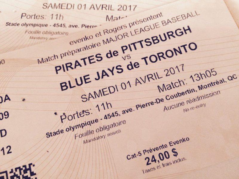Il reste encore des billets de disponibles pour la venue des Jays ce printemps à Montréal.