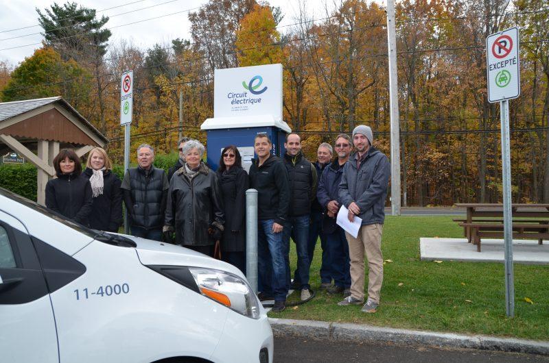Otterburn Park et le Circuit électrique se sont partagé la facture de 84 000$ pour l'achat d'une borne de recharge rapide.