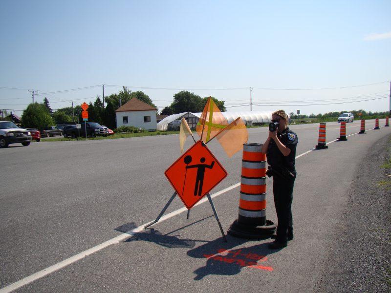 Les policiers seront présents cet été sur les chantiers de construction.