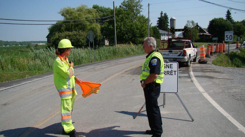 La présence policière accrue est appréciée par les signaleurs routiers.