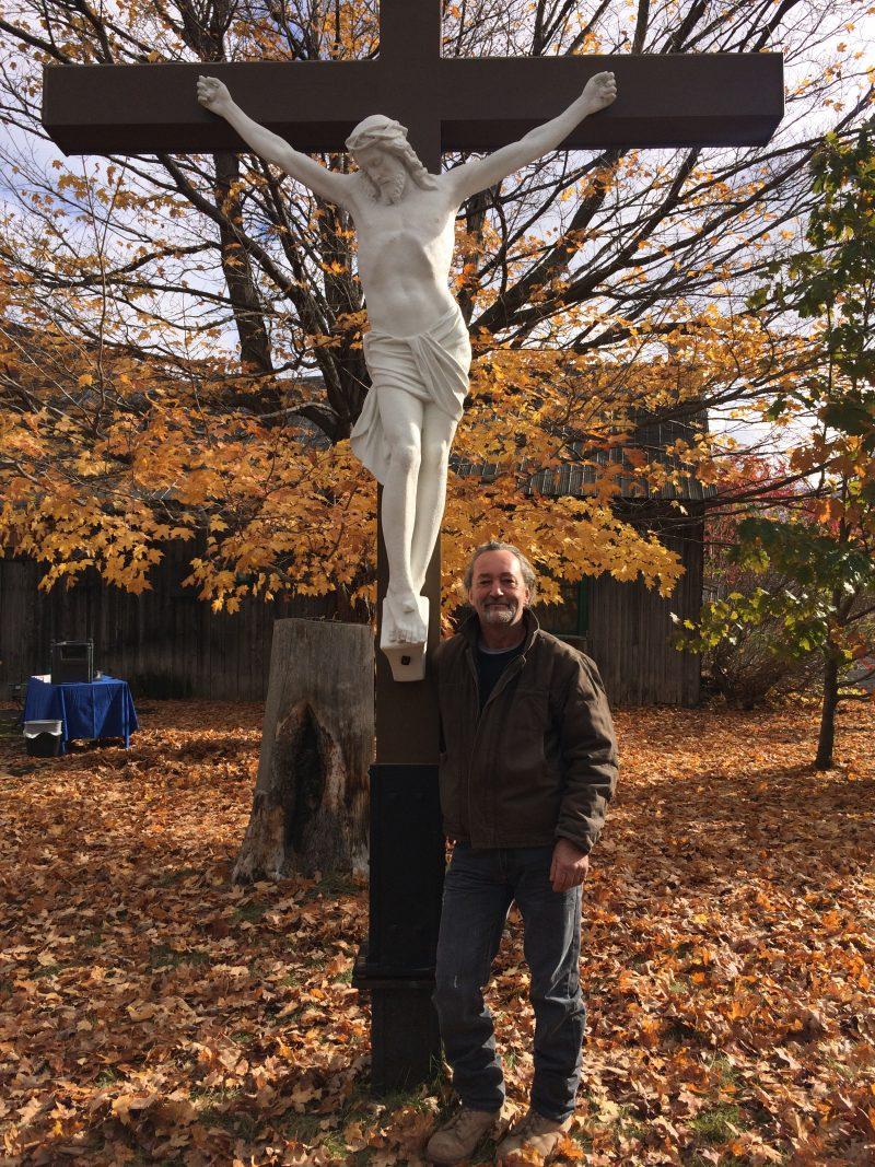 Alain Dionne a restauré la statue. Le résultat final a été dévoilé vendredi.