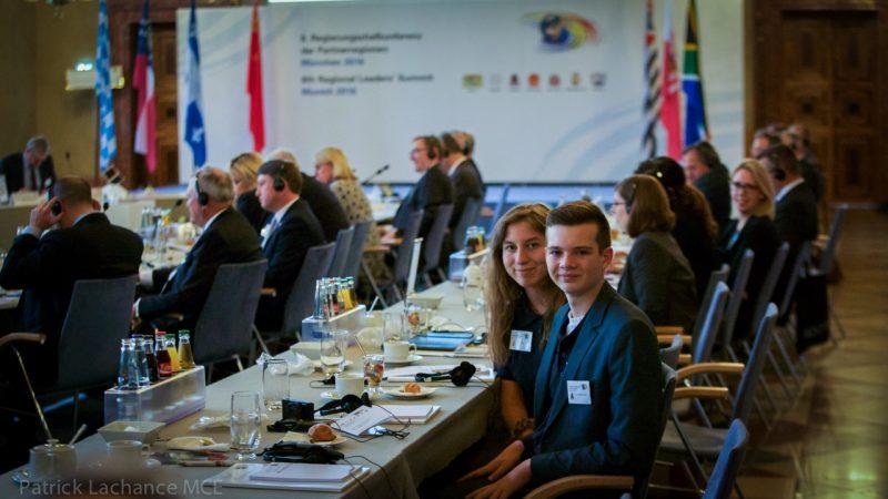 David-William Gascon et Salomé Labrecque étaient les deux élèves québécois invités à la <@Ri>Future Leaders' Conference