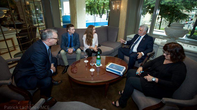 Avec le premier ministre Philippe Couillard