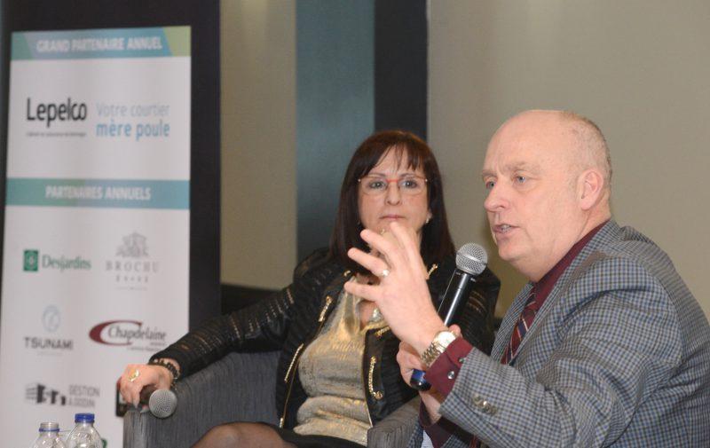 Diane Lavoie et Yves Corriveau ont profité de la rencontre pour notamment mettre de l'avant leur vision du développement économique et industriel ainsi que les forces de leur municipalité.