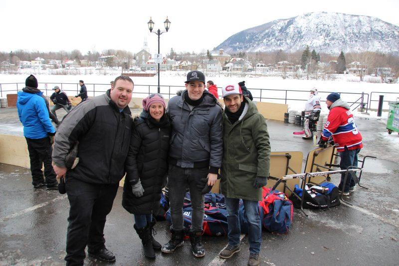 Mathieu Campbell, Joanie Turbide, Alexandre Demers et le député fédéral Matthew Dubé.