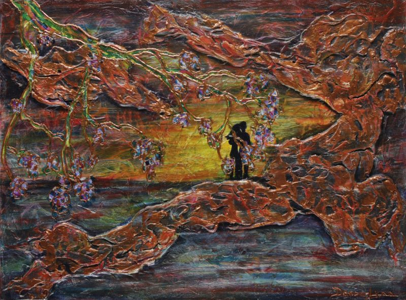 Les Yeux dans les Yeux; œuvre de l'artiste peintre Danou-Lynn de Mont-Saint-Hilaire.