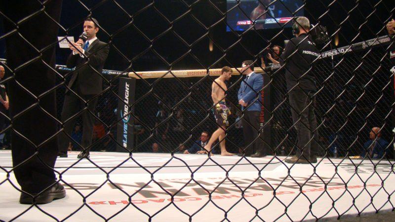 Kevin Généreux lors du dernier gala de TKO MMA.