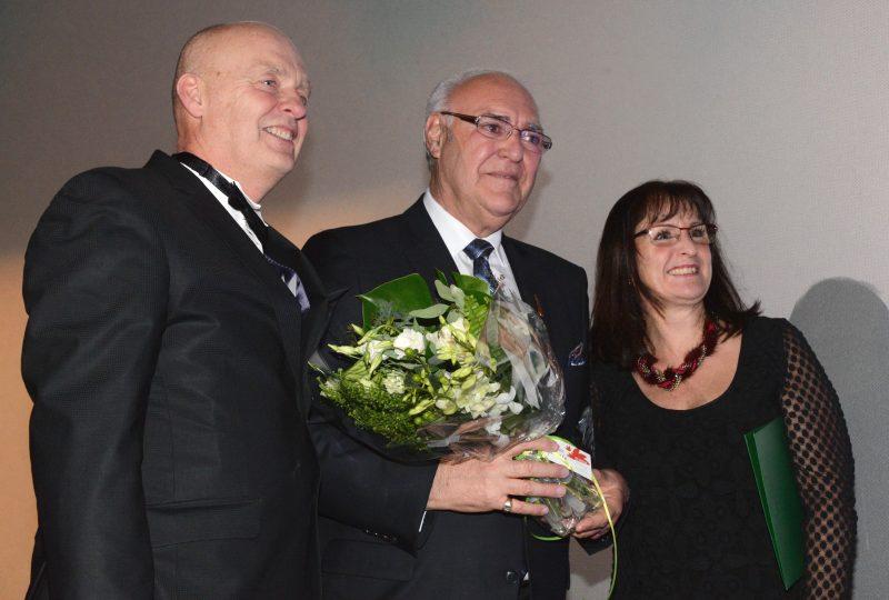 Le maire Gilles Plante, au centre, en compagnie de ses homologues Yves Corriveau et Diane Lavoie.