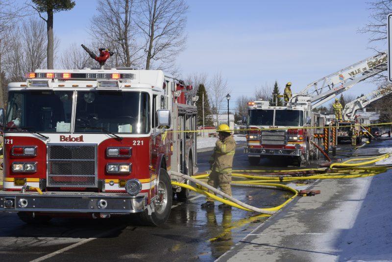 Feu dans un bloc : l'incendie s'est déclaré dans une boite électrique