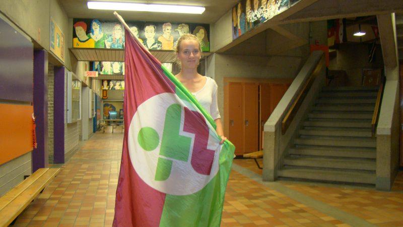 Sandrine Léveillé, porte-drapeau pour Richelieu-Yamaska. À Montréal, l'athlète de Shefford sera en action dans les deux blocs de compétition, soit en triathlon et en vélo de montagne.