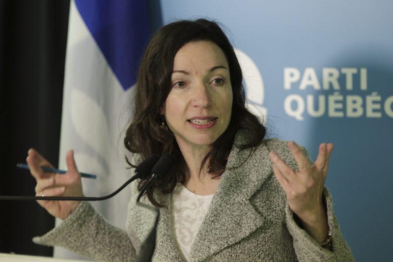 La député de Vachon et candidate à la direction du PQ, Martine Ouellet.