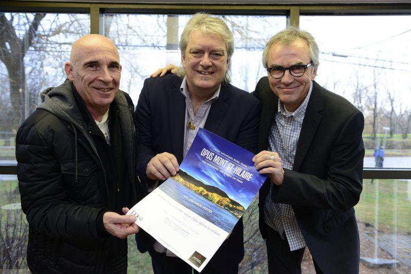 Dean Newman, William Foster David et Paul Lacoursière lancent l'album Opus Mont-Saint-Hilaire-une montagne, une rivière, un train..