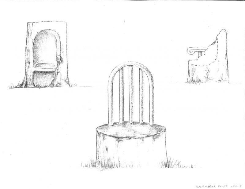 Le sculpteur propose la confection de mobiliers urbains avec des frênes ravagés par l'agrile.