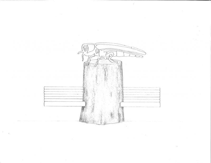 Un autre exemple de sculpture proposé par l'artiste d'Otterburn Park.