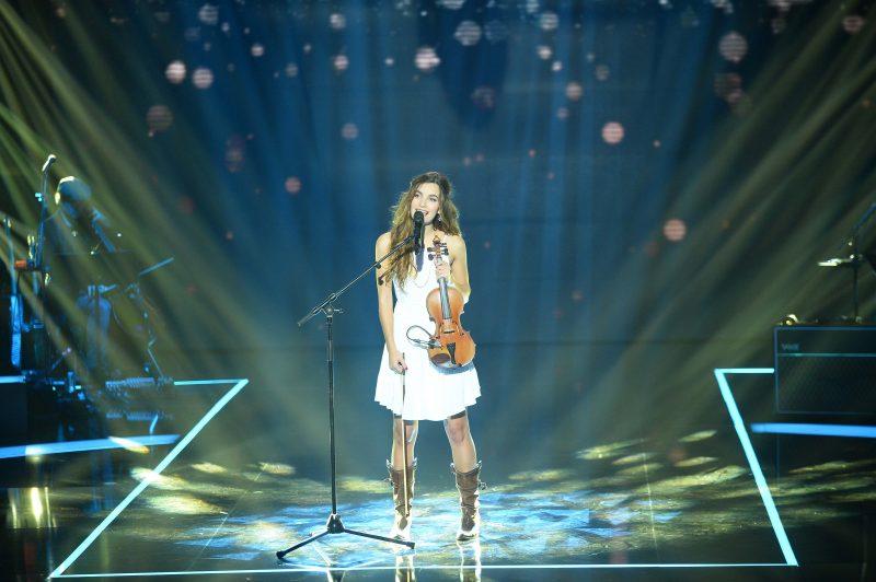 Gabriella a épaté les juges de l'émission The Voice en France.