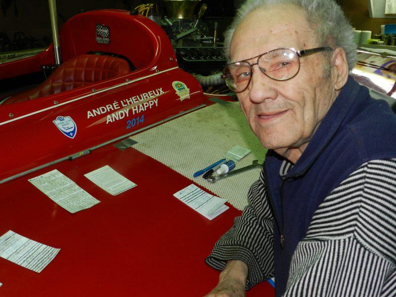 À 80 ans, André L'Heureux conserve toujours la passion  des courses sur l'eau