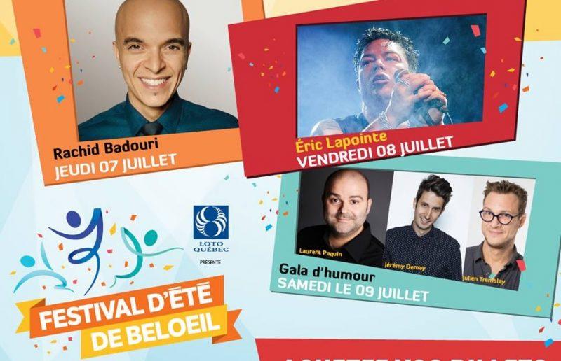 Les artistes du Festival d'été de Beloeil.