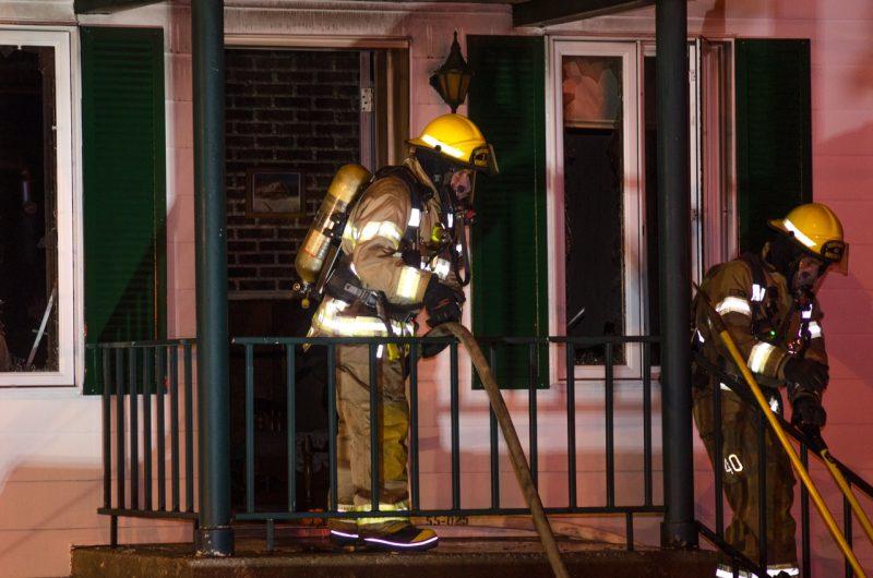Un incendie possiblement criminel à Sainte-Madeleine