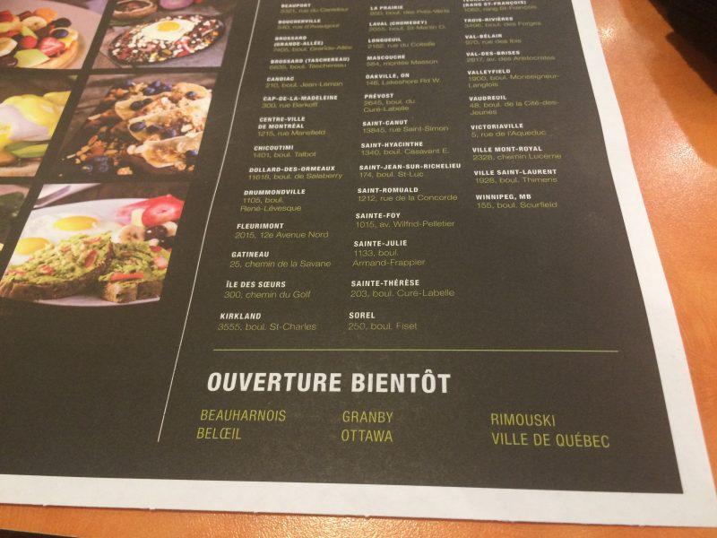 Beloeil n'est pas la seule ville qui accueillera un nouveau restaurant Ben et Florentine.