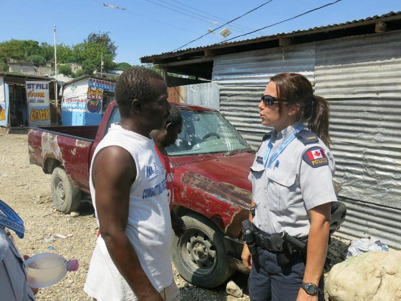 La belloeilloise Mélanie Larouche est agente de la Gendarmerie royale du Canada en mission à Port-au-Prince.