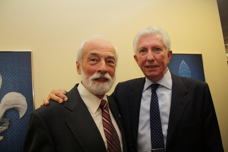 Yves Lessard en compagnie de Gilles Duceppe.
