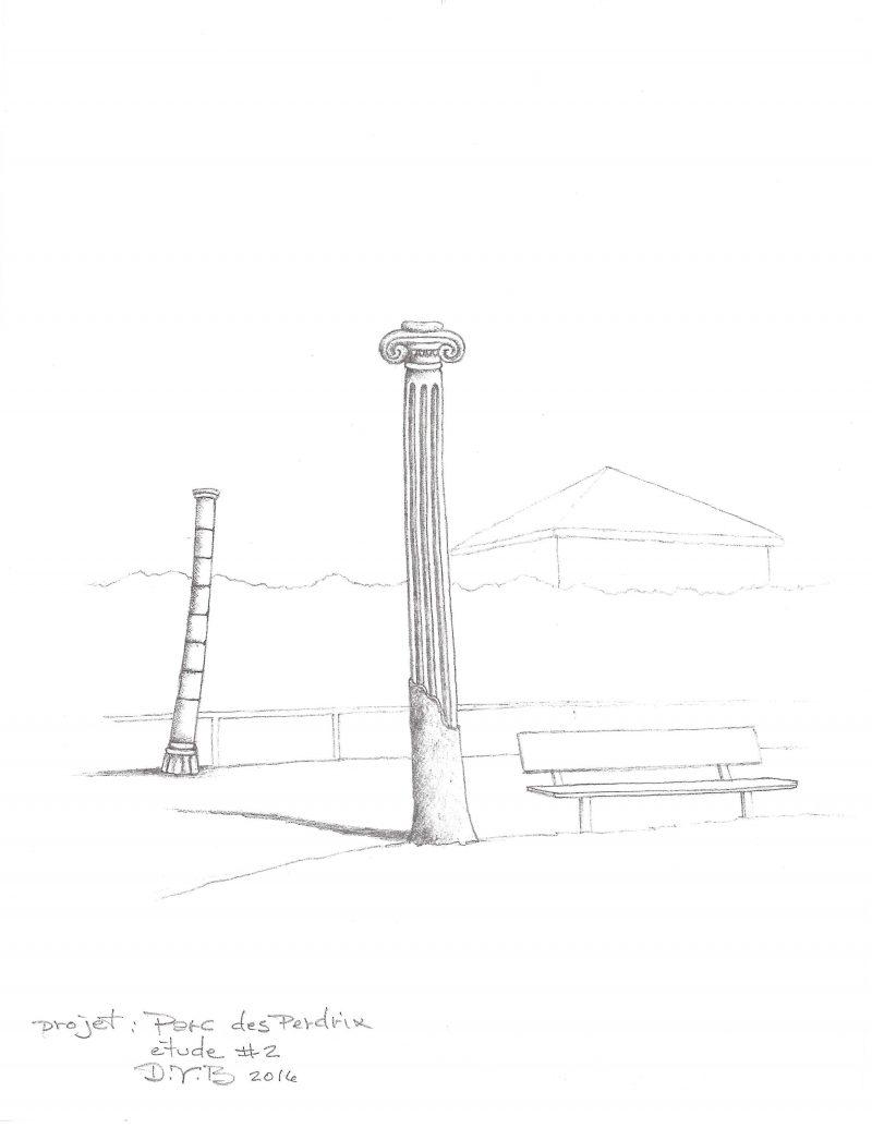 Voici un croquis des sculptures qui seront réalisées.