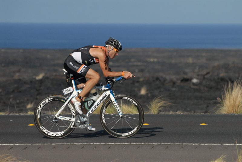 David Durocher lors d'une compétition Ironman.