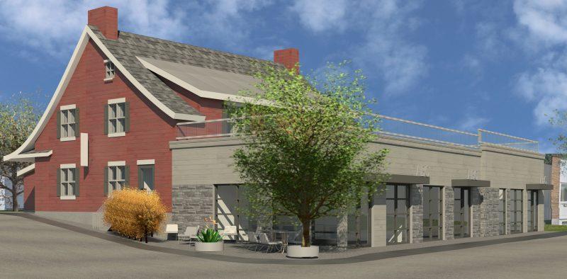 Voici le plan du projet de Rocky Vachon qui veut transformer une ancienne épicerie en restaurant.