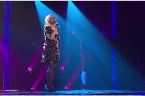 Une image capté de la dernière performance de Rafaëlle Lafrance.