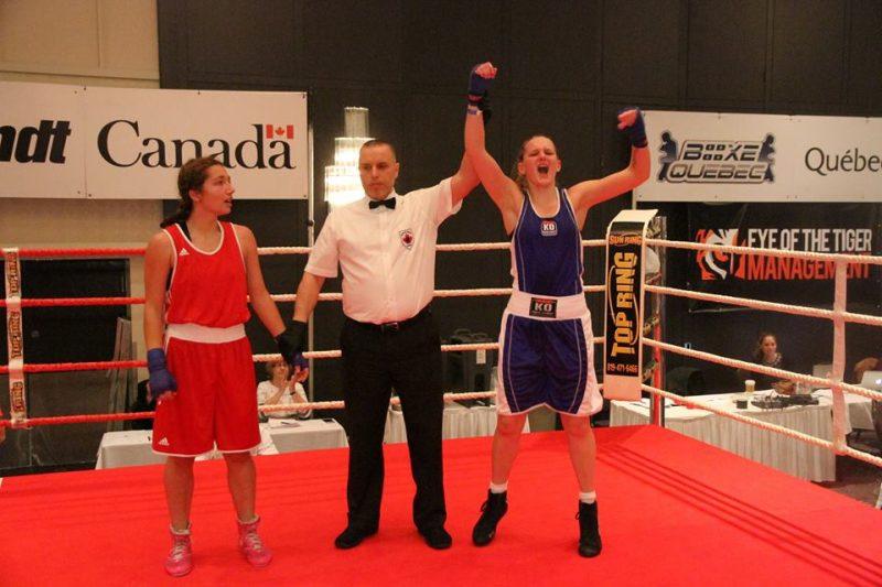 Jessie-Jayne Ouellet  est fière de sa victoire.