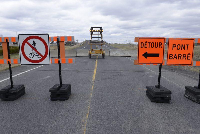 Le viaduc de Saint-Mathieu-de-Beloeil a été fermé en avril dernier.