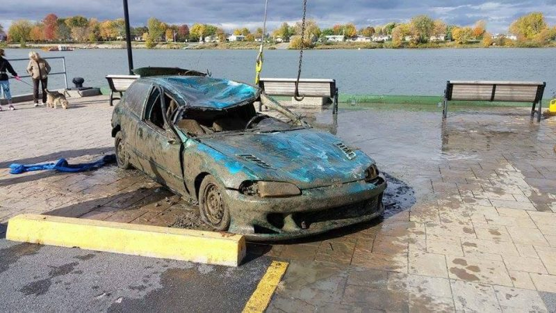 La Honda Civic 1993 repêchée a été volée en 2000.