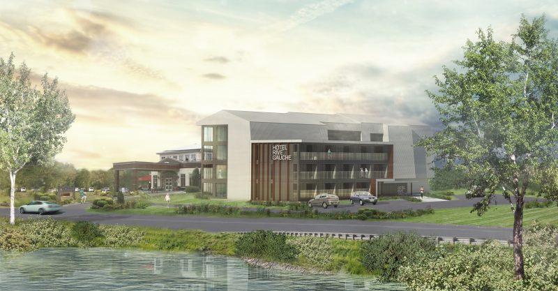 Le plan du futur agrandissement et le nouveau look de l'hôtel.