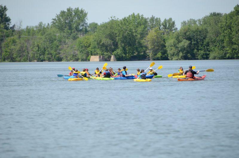 Des kayakistes sur la rivière Richelieu