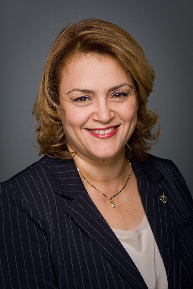 La candidate du NPD dans Montarville et députée sortante, Djaouida Sellah.