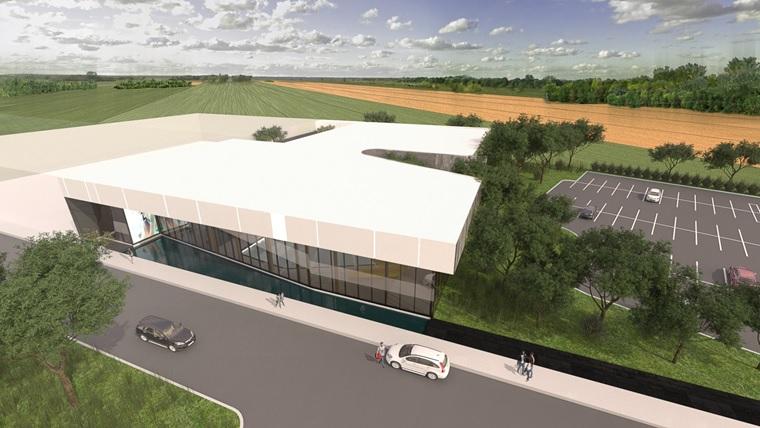 Plan extérieur de la future piscine projetée par la Ville de Belœil en septembre 2015.